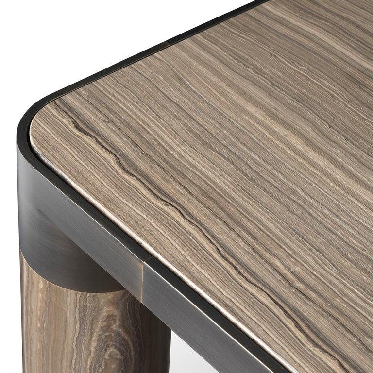 Modern Bold Eramosa Marble Dining Table