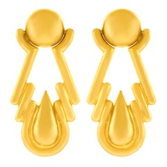 Bold Gold 1970s Earrings