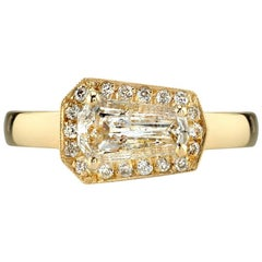 Bold Gold Shield Cut Ring