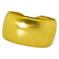 Bold Large Gold Bangle Bracelet
