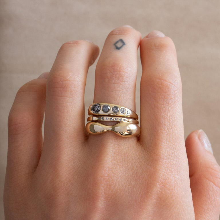 M. Hisae Modernist Sculptural Gold Ring For Sale 1