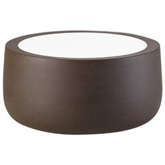 Bold Polyethylene Coffee Table in Golden Rust by Giulio Iaccheti for Plust