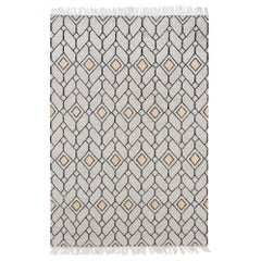 Bold Strong Lines Customizable Ashes Weave Rug Small