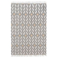 Bold Strong Lines Customizable Ashes Weave Rug X-Large