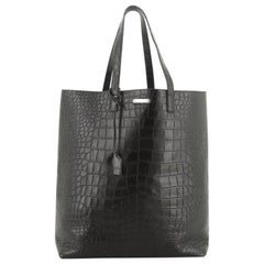 Bold Tote Crocodile Embossed Leather Large