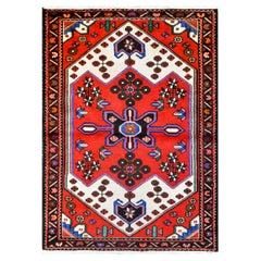 Bold Vintage Hamadan Rug