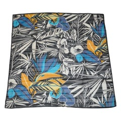 "Bold Vivid Multi Color ""Jungle Floral"" Cotton Scarf"