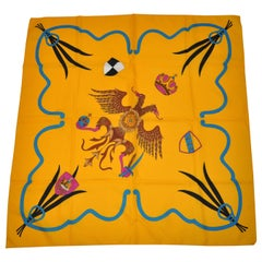 "Bold Yellow ""Royal Crown"" Scarf"