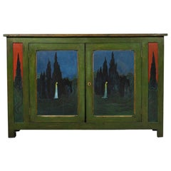 Bolesla Biegas, Pair of Painted Sideboards, circa 1905