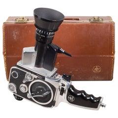 Bolex Zoom Reflex P1 Movie Camera and Leather Case, circa 1961