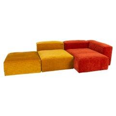 Bolia Cosima Fabric Sofa Orange Yellow Corner Sofa Ottoman Sofa Combination