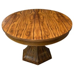 Bolivian Rosewood Center Hall or Dining Table with Organic Curved Base