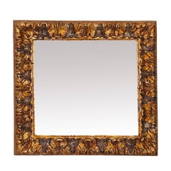 Bolognese Carved Wood Mirror