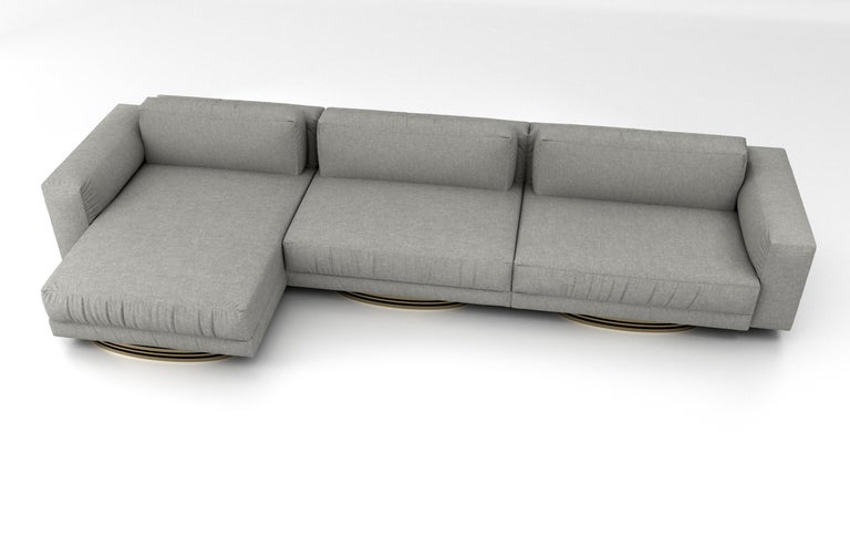 Modern Bolsa Sectional Chaise by Ortiz Milano For Sale