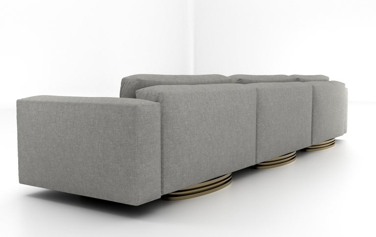 Italian Bolsa Sectional Chaise by Ortiz Milano For Sale
