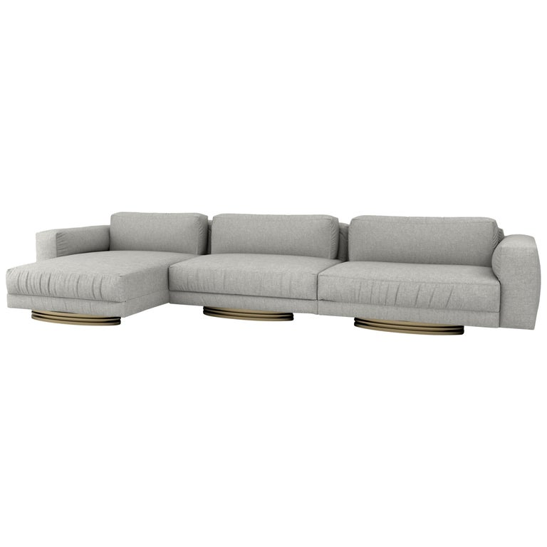 Bolsa Sectional Chaise by Ortiz Milano For Sale