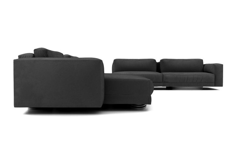 Creative director Susan Hornbeak Ortiz has created an iconic collection for her new Ortiz Milano brand that is designed in California and handcrafted in Milan, Italy. This beautifully designed luxury sectional screams comfort and sophistication and