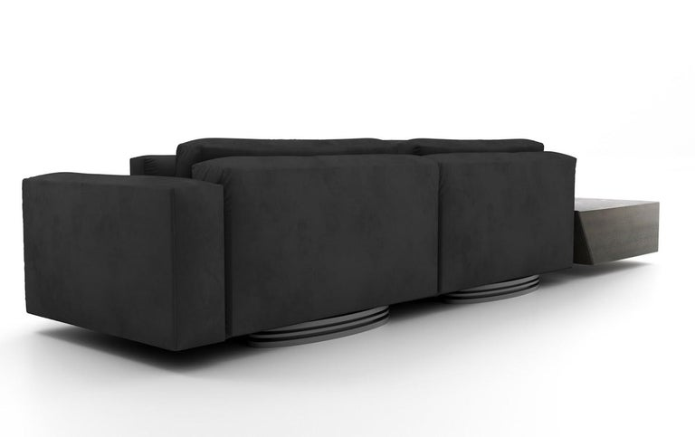 Modern Bolsa Sectional L with Tables by Ortiz Milano For Sale