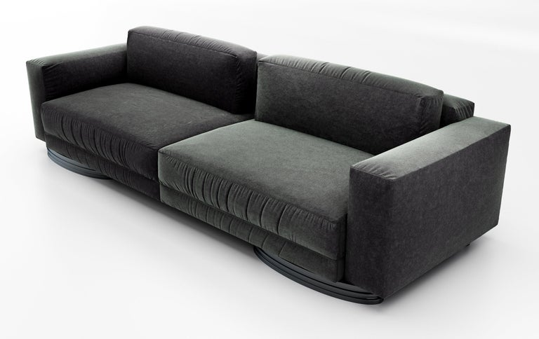 Creative Director Susan Hornbeak Ortiz has created an iconic collection for her new Ortiz Milano brand that is designed in California and handcrafted in Milan, Italy. This beautifully designed luxury Sofa screams comfort and sophistication. It