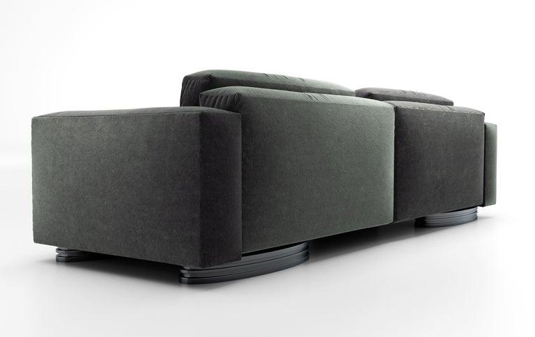 Italian Bolsa Sofa by Ortiz Milano For Sale