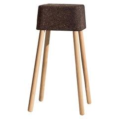 Bombetta Stool Cube Medium, with Ash Legs and Dark Cork Seat by Discipline Lab