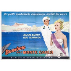 Bombs on Monte Carlo 1961 German A0 Film Poster