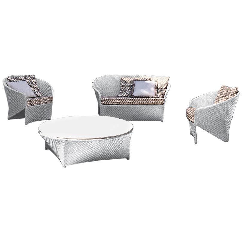 Bonacina 1889 Marine Outdoor Sofa with Cushion, Tito Agnoli, 2007