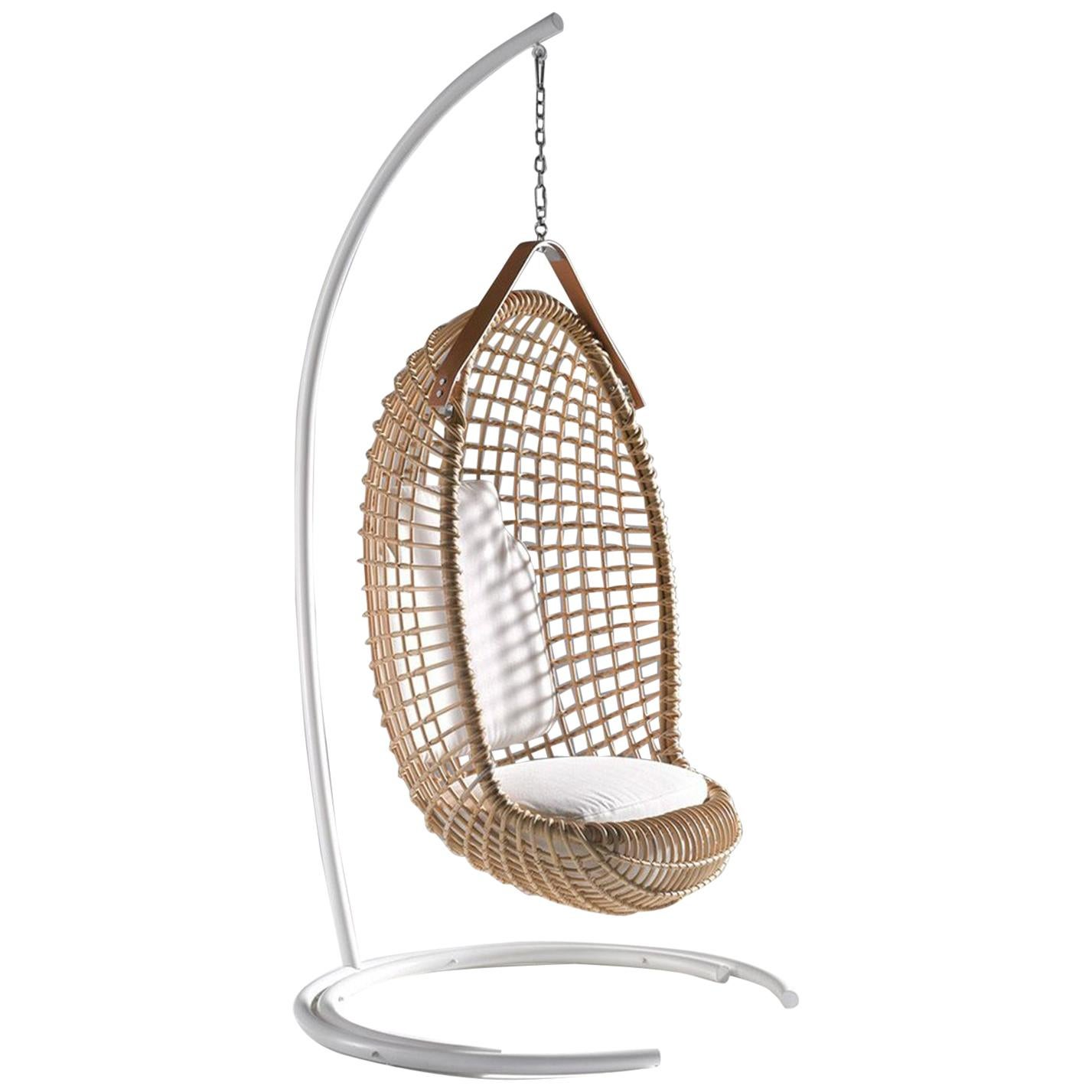 Bonacina 1889 Stand for Eureka Rattan Indoor Hanging Chair, Giovanni Travasa