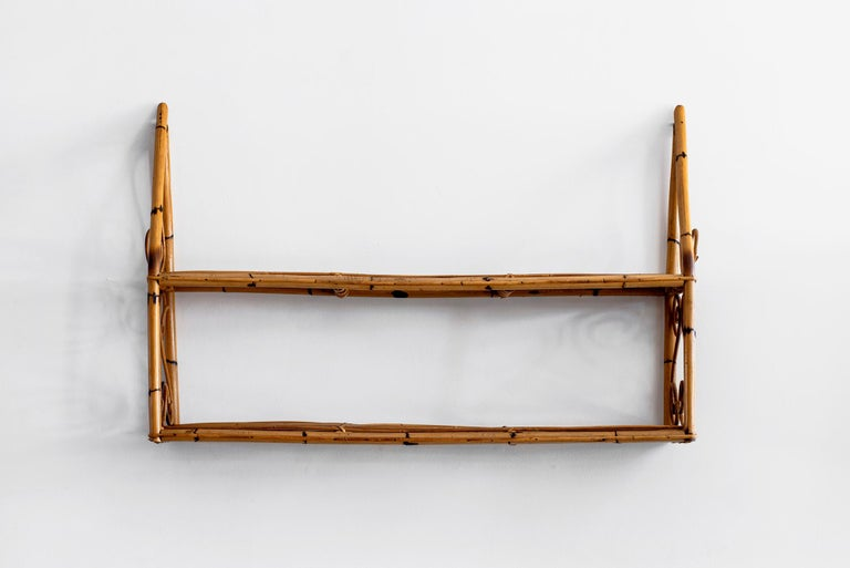 Bonacina Rattan Shelf In Good Condition For Sale In Los Angeles, CA