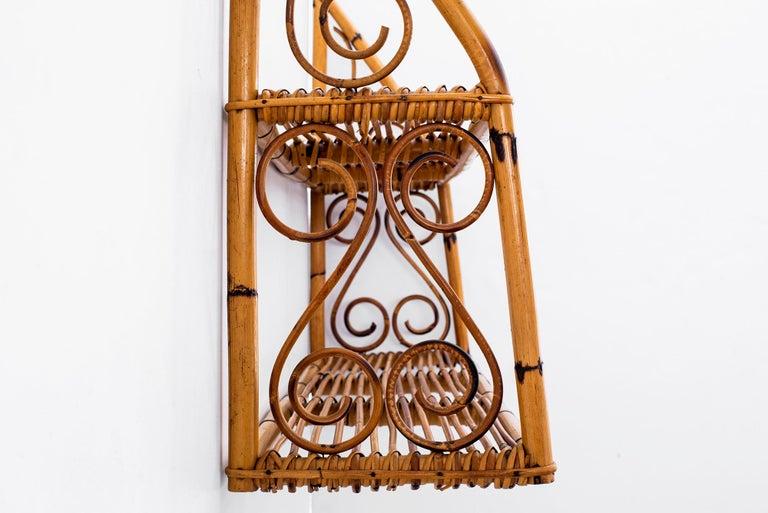 Bonacina Rattan Shelf For Sale 1