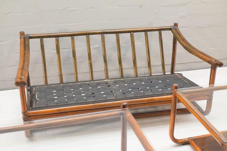 Bonacina Style Midcentury Italian Bamboo Living Room Set, 1960s