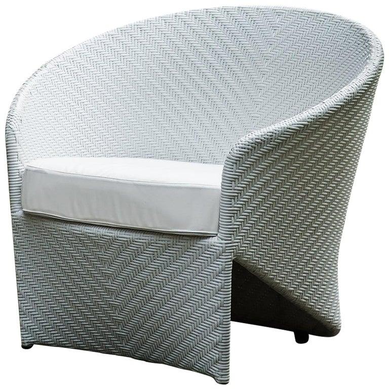 Bonacina 1889 Marine Outdoor Armchair, with Cushion, Tito Agnoli, 2007 For Sale