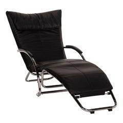 Bonaldo Swing Plus Leather Armchair Black Reclining Function