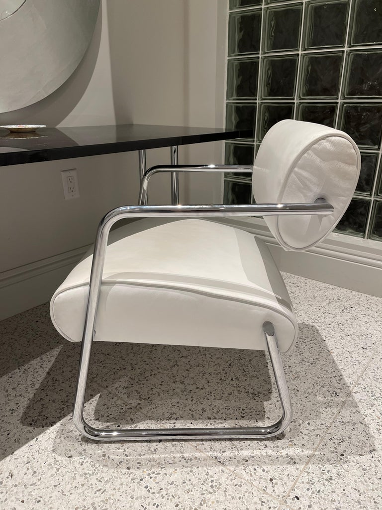 Bonaparte Armchair by Eileen Gray manufactured by ClassiCon For Sale 4