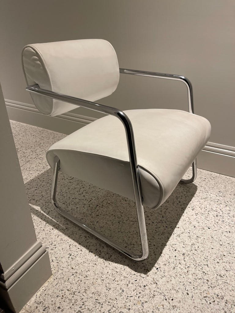 Bonaparte Armchair by Eileen Gray manufactured by ClassiCon In Good Condition For Sale In New York, NY