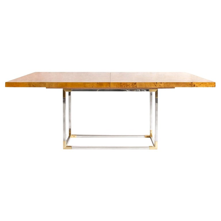 Bond Burled Wood Dining Table For Sale