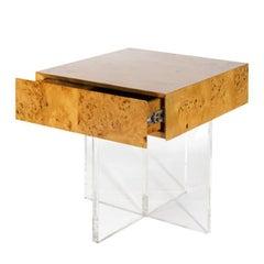 Bond Burled Wood End Table