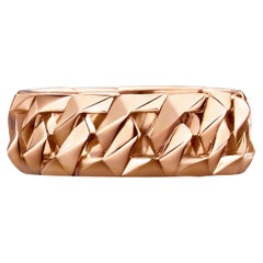 18k Pink Rose Gold Chain Band Ring