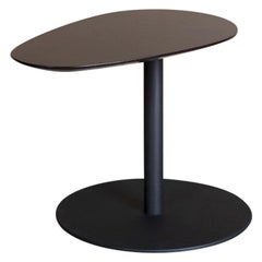 'Bond' Wooden Top and Metal Base Side Table