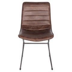 Bonded Leather and Steel Modern Dining Chair