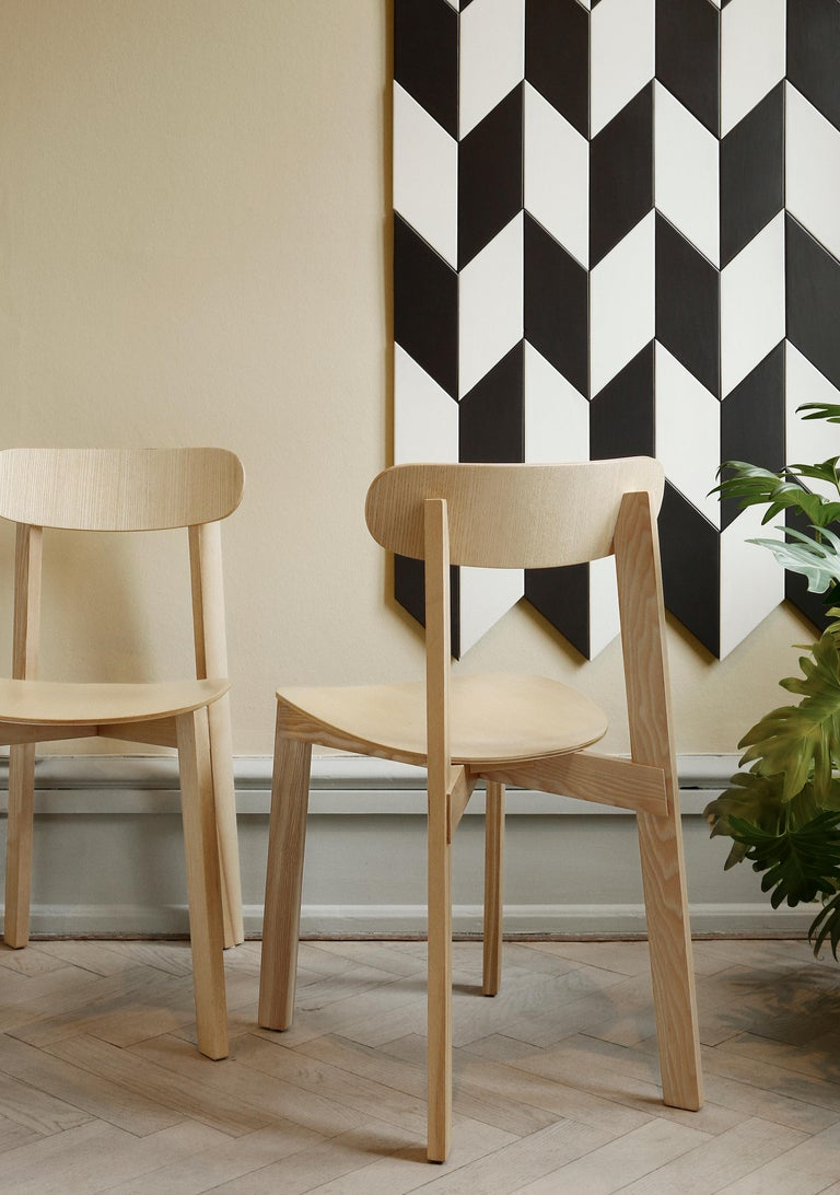 Bondi Stackable Dining Chair in Ashwood For Sale 8
