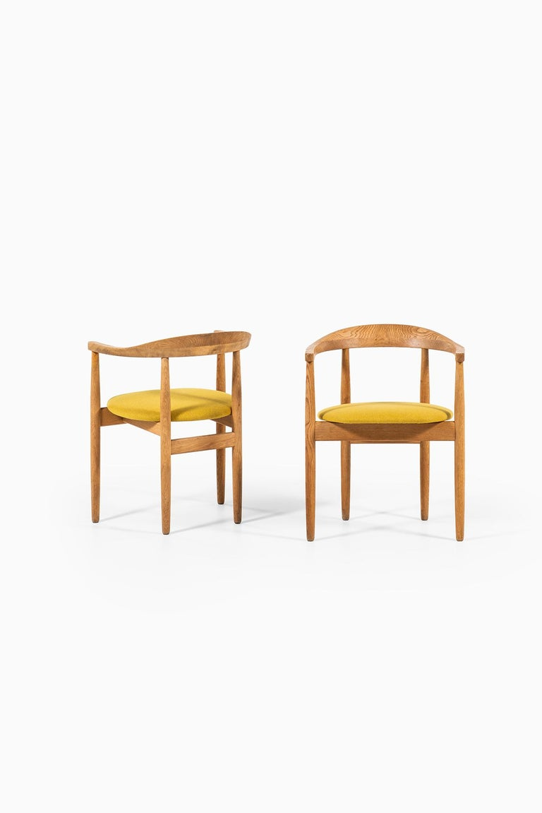 Rare armchairs designed by Bondo Gravesen. Produced by Bondo Gravesen in Denmark.