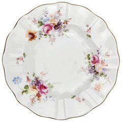 Bone China Porcelain Royal Crown Derby Plate in Derby Posies Rose Pattern