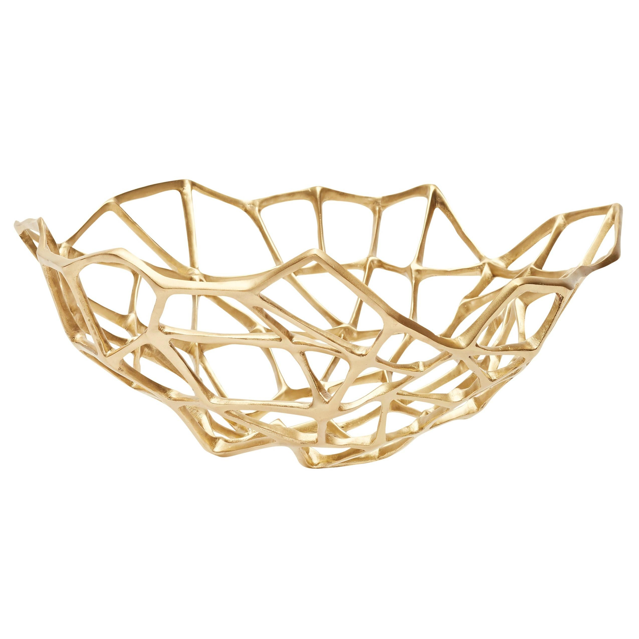 Bone Extra Large Bowl in Brass by Tom Dixon
