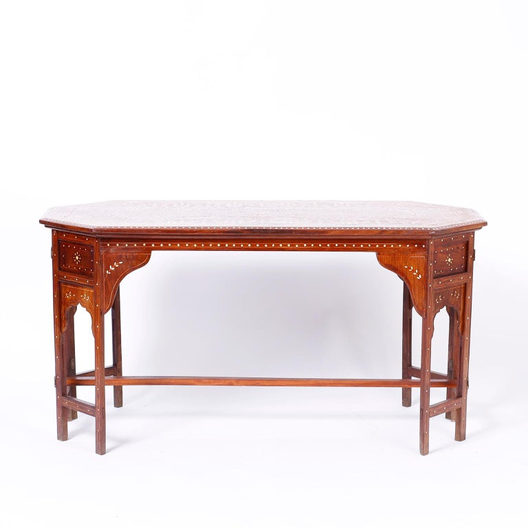 Anglo-Indian Bone Inlaid Anglo Indian Coffee Table For Sale
