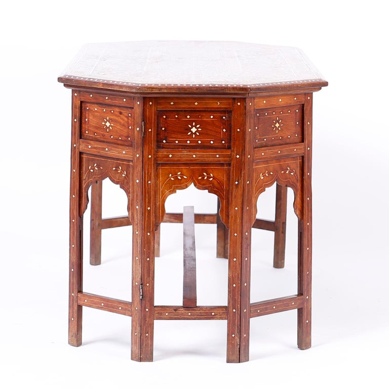 Inlay Bone Inlaid Anglo Indian Coffee Table For Sale