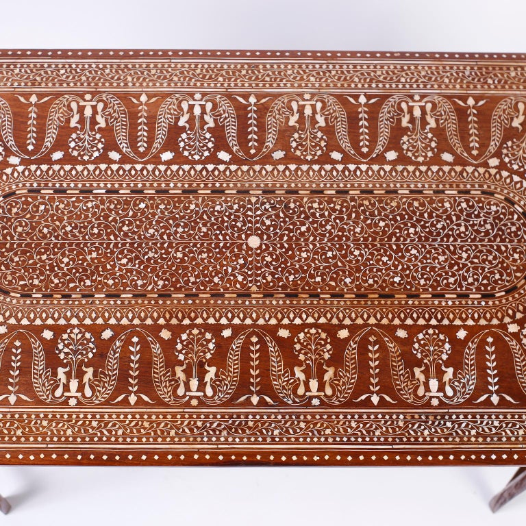 20th Century Bone Inlaid Anglo Indian Coffee Table For Sale