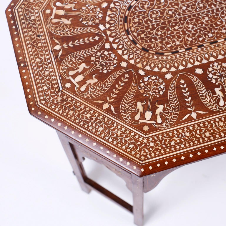 Bone Inlaid Anglo Indian Coffee Table For Sale 2