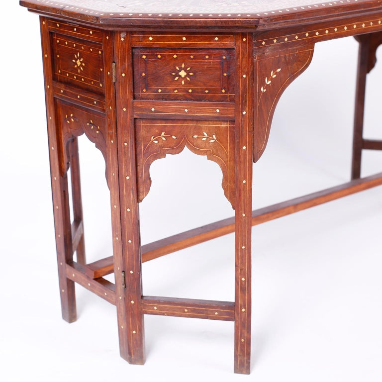 Bone Inlaid Anglo Indian Coffee Table For Sale 3