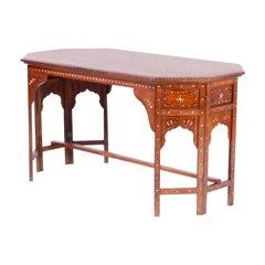 Bone Inlaid Anglo Indian Coffee Table